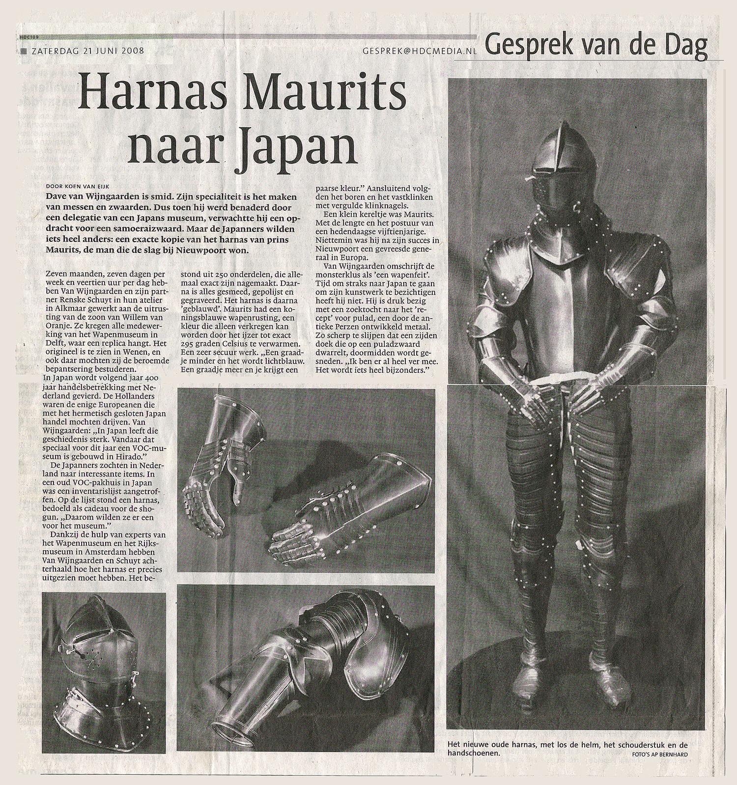 Harnas persbericht